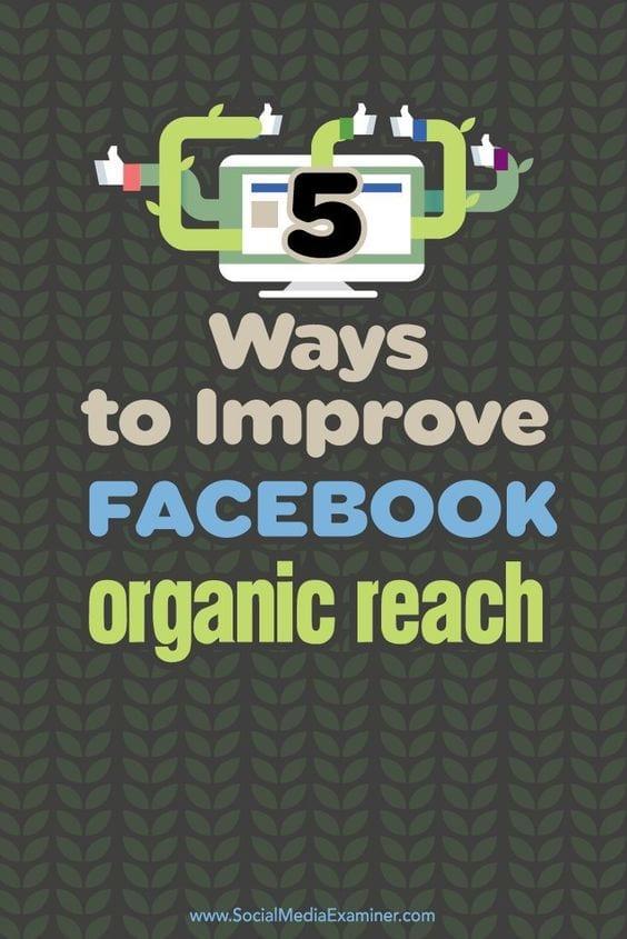 5 ways to improve your Facebook organic reach